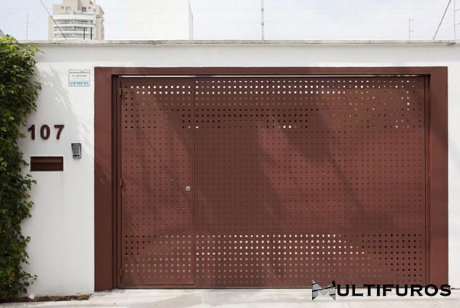 hapas Perfuradas em Portões Residenciais